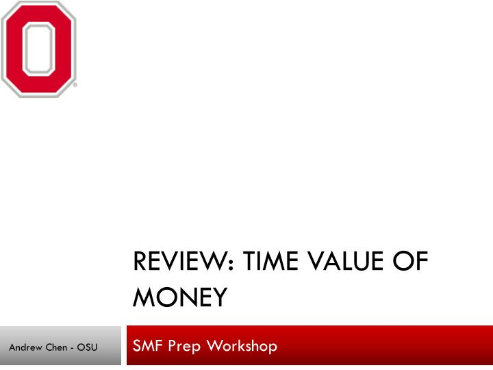 review time value of money n.