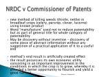 nrdc v commissioner of patents