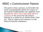 nrdc v commissioner patents