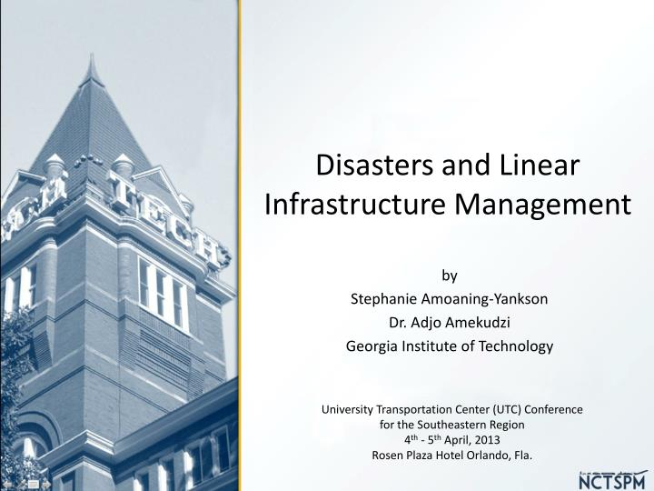 disasters and linear infrastructure management n.