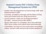 summit county esc s online form management system for lpdc