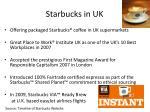 starbucks in uk