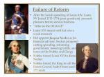 failure of reform