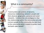 what is a community4
