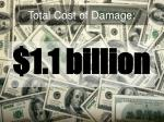 total cost of damage
