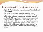 professionalism and social media