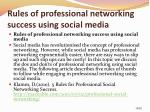 rules of professional networking success using social media