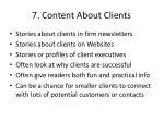 7 content about clients