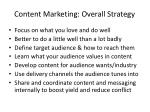 content marketing overall strategy