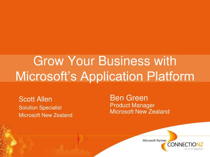 grow your business with microsoft s application platform n.