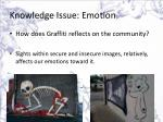 knowledge issue emotion