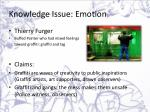 knowledge issue emotion1