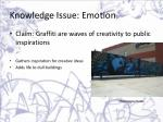 knowledge issue emotion2