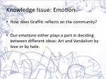 knowledge issue emotion4