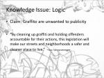 knowledge issue logic3