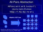 all pairs abstraction