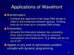 applications of wavefront