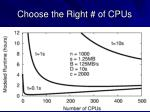 choose the right of cpus