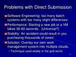 problems with direct submission