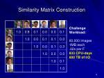 similarity matrix construction