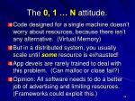 the 0 1 n attitude
