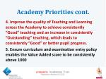 academy priorities cont