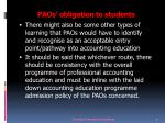 paos obligation to students1