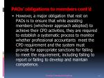 paos obligations to members cont d14