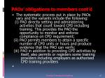 paos obligations to members cont d15