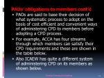 paos obligations to members cont d16