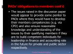paos obligations to members cont d26