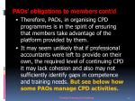 paos obligations to members cont d9