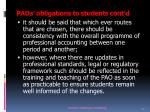 paos obligations to students c ont d1