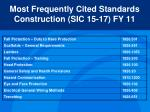 most frequently cited standards construction sic 15 17 fy 11