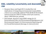 esg volatility uncertainty and downside risk