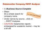 datamonitor company swot analyses