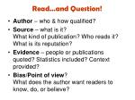 read and question