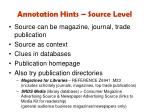 annotation hints source level1
