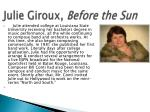 julie giroux before the sun1
