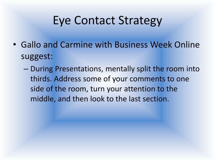 Eye Contact Strategy