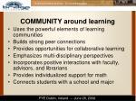 community around learning