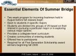 essential elements of summer bridge