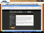 http uc iupui edu staff assessment index asp