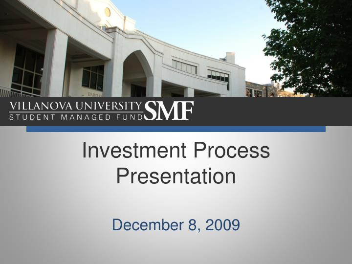 investment process presentation n.