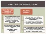 analysis for option 2 dnp1