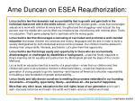 arne duncan on esea reauthorization