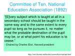 committee of ten national education association 1892