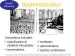 systematization