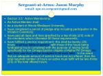 sergeant at arms jason murphy email apo oe sergeant@gmail com