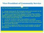 vice president of community service